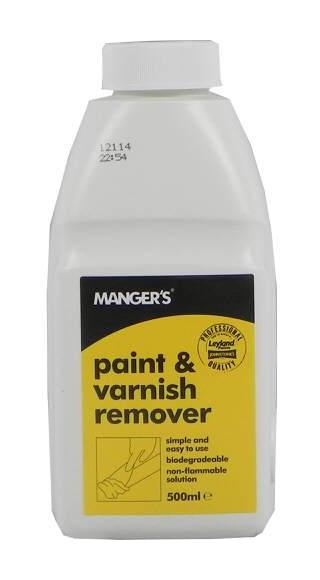 Image of Paint & Varnish Remover 500ml - Mangers