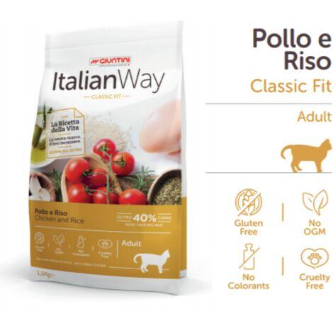 Mangime completo per gatti 8kg Pollo e Riso Classic Fit Giuntini Italian Way