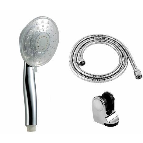Mango de ducha LED tres colores RY-L025 con soporte de ducha y flexo incluidos