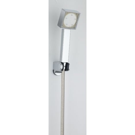 Mango de ducha LED tres colores RY-L026 con soporte de ducha y flexo incluidos