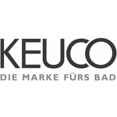 KEUCO MANGO Bürstenhalter Echtkristrall Einsatz mit Lochbohrung für Deckel-Befestigung mattiert lose