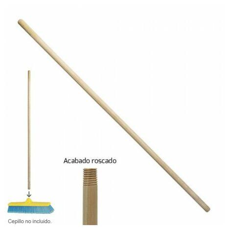 Mango madera brosse balayeuse filetée 1200x28 mm.