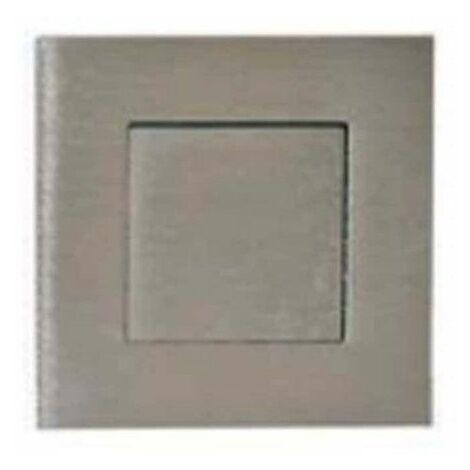 Mangos de cuenco empotrados cuadrados - Con placa de empuje - Diámetro 52 mm - Acero inoxidable cepillado