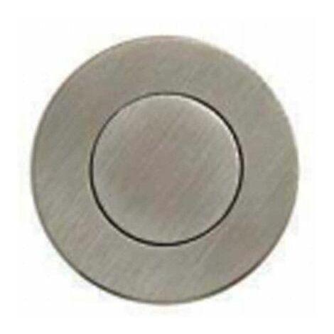 Mangos de cuenco empotrados redondos - Con placa de empuje - Diámetro 55 mm - Acero inoxidable cepillado