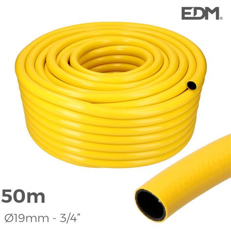"Manguera agricola amarilla Øinterior 19mm Øexterior 25mm (5/8"") rollo 50mts"