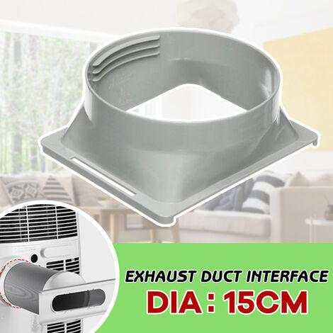 Manguera de escape cuadrado de interfaz para 5.91in diametro del conducto de escape acoplador de manguera brida del tubo conector de aire acondicionado portatil, fondo cuadrado