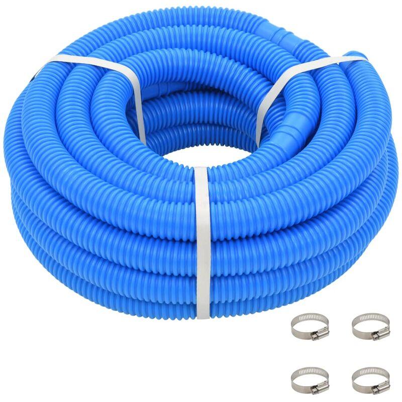 Youthup - Manguera de piscina con abrazaderas azul 38 mm 12 m - Azul