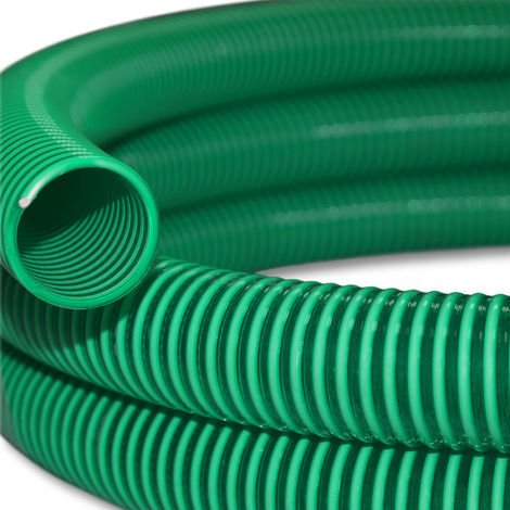 """Manguera de succión y presión 5m refuerzo espiral 38mm diametro (1 1/2"""") - fabricado en Europa"""