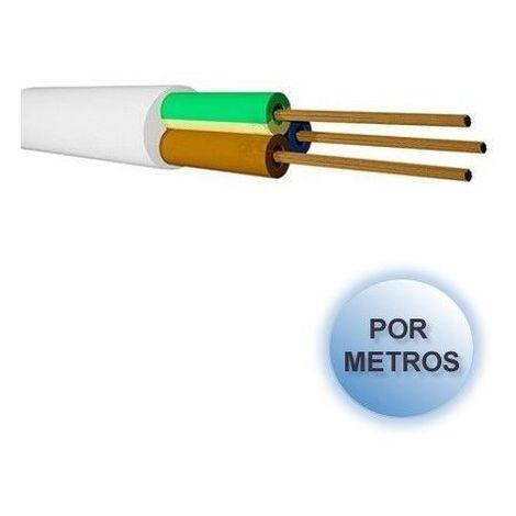 Manguera eléctrica blanca 3x1.5 por METROS