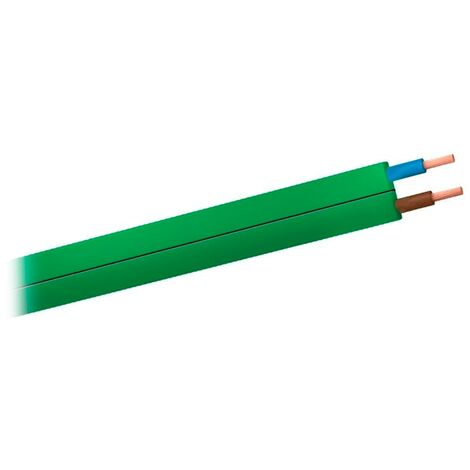 Bicolor Cable FLEXIBLE H07V-K 1 x 1,5 mm/² 50 m Amarillo // Verde