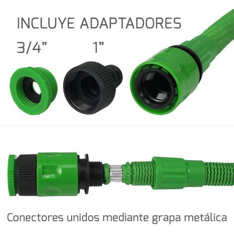 Manguera Extensible Riego Compacto 5 A 15 Metros Con Pistola 7 Posiciones - NEOFERR