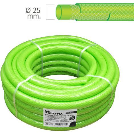 Saturnia tubo manguera latflex reforzado, diámetro 25 mm, 1 pulgada, rollo 25 metros
