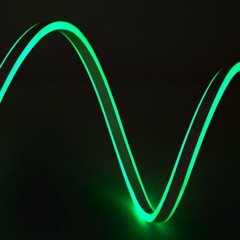 Manguera Neon Flex Emisión Lateral Doble SMD2835 220-230VAC 12W/M WM-SMD2835-NFD-120-G x 1M | Verde (WM-SMD2835-NFD-120-G)