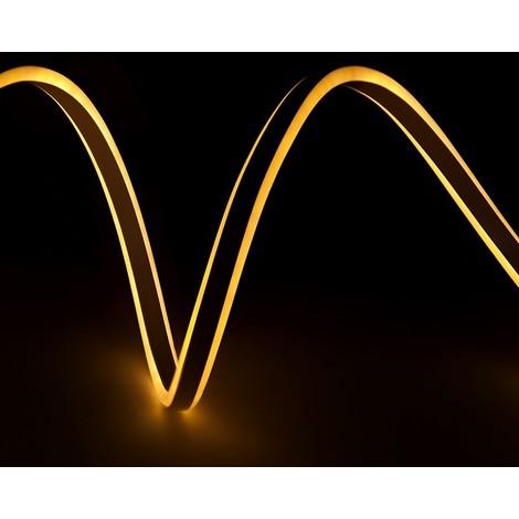 Manguera Neon Flex Emisión Lateral Doble SMD2835 220-230VAC 12W/M WM-SMD2835-NFD-120-WW x 1M | Blanco Cálido (WM-SMD2835-NFD-120-WW)