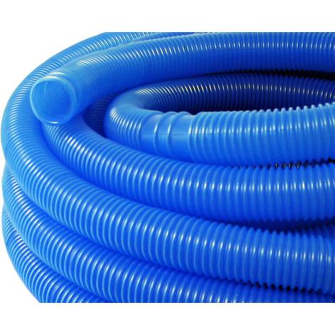 Manguera piscina azul con manguitos 38mm 15m 190g/m tubo plástico piscinas jardín Fabricado en Europa