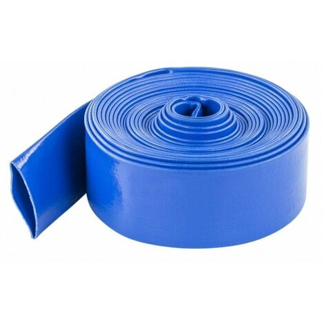 Manguera Plana Azul Reforzada A Presión - 200 Mm. Rollo 50 Metros