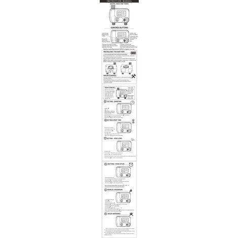 Manguera programable digital temporizador grifo al aire libre con pilas del controlador de riego Sistema de riego automatico de riego con la salida 2 para plantas de jardin (Baterias no incluidas), grifo de la UE de conexion