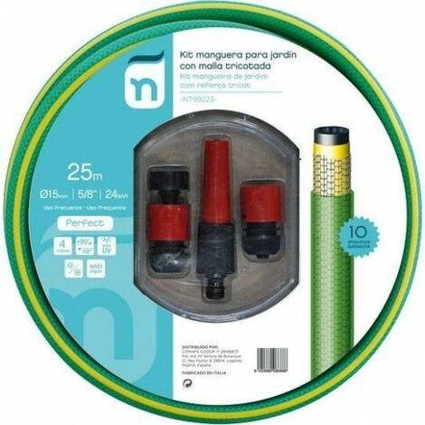 Manguera Riego 25Mt-15 4C Verde Perfe Tricotada Accesorios