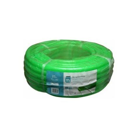 Manguera Riego 25Mt-15Mm Latex Verde Trenzada 25 M