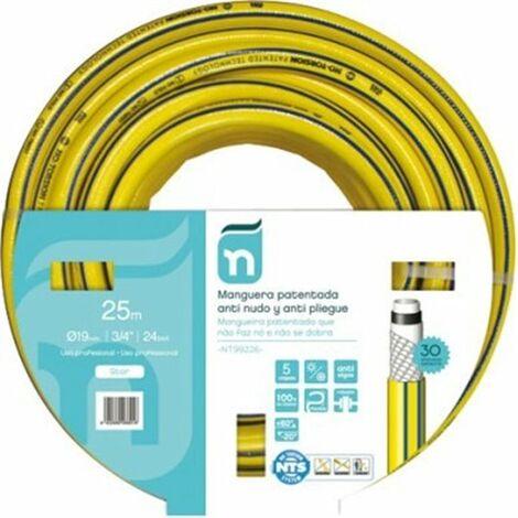 Manguera Riego 25Mt-19Mm 5C Amarillo Tricotada 25 M