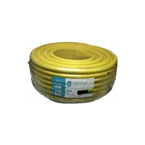 Manguera Riego 50Mt-15Mm 3C Amarillo Agricola Trenzada