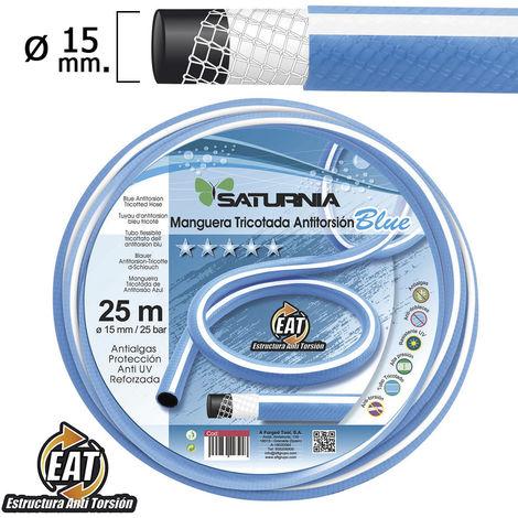 "main image of ""Manguera tricotada no torsion blue Ø 25 mm. rollo 25 metros"""