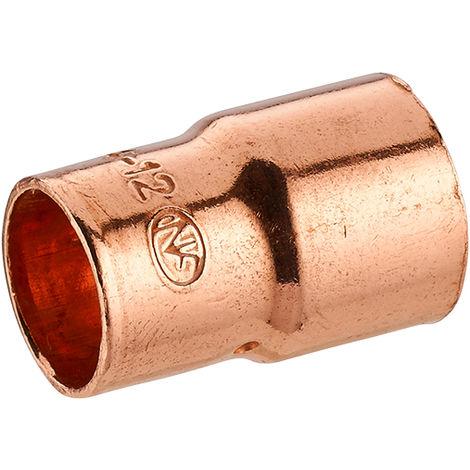 manguito cobre para soldar doble hembra reducido