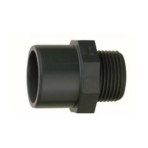 """Manguito combinado, diámetro 32 o 40 mm, rosca 1"""" 1/4 para atornillar en PN 16 - conexión PVC"""
