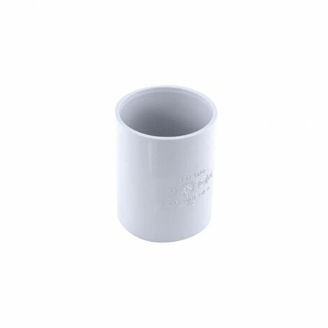 Manguito de PVC con tope ff ø 40 mm blanco
