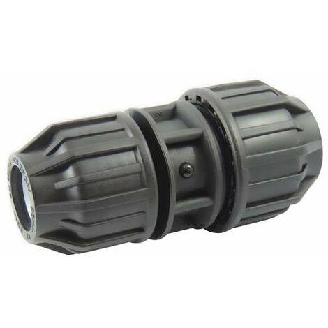 Manguito reducido para tubería de polietileno, diámetro 50 a 40mm