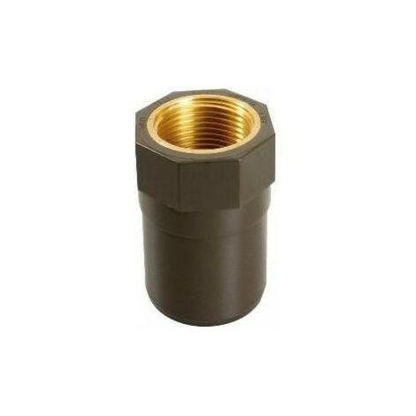 Manguito roscado hembra de latón/PVC HTA 20*27 X 25/32