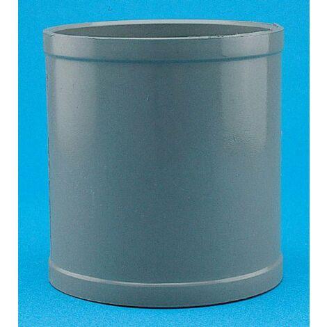MANGUITO UNION HEMBRA-HEMBRA PVC 90 MM