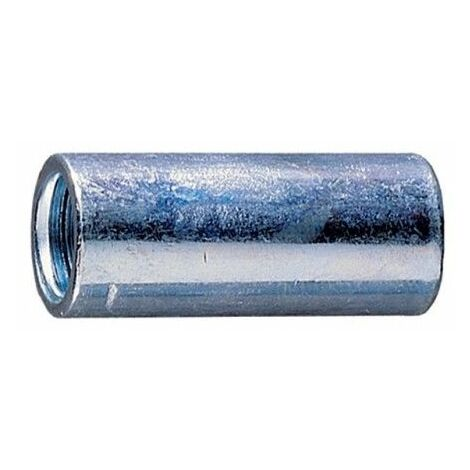 Manguito Union Redondo Roscado 08X025Mm Metalico Cincado