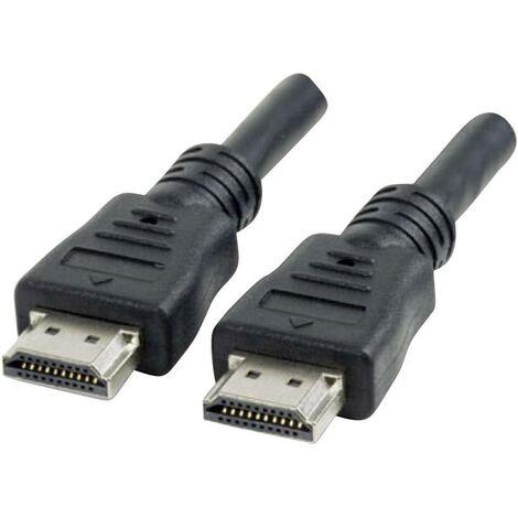 Manhattan CordonHDMI haut débit, HDMI mâle vers mâle, blindé, noir, 1,8m (6ft) D38365