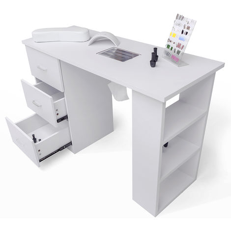 Manicure and nail reconstruction table with aspirator and drawers SUNSET