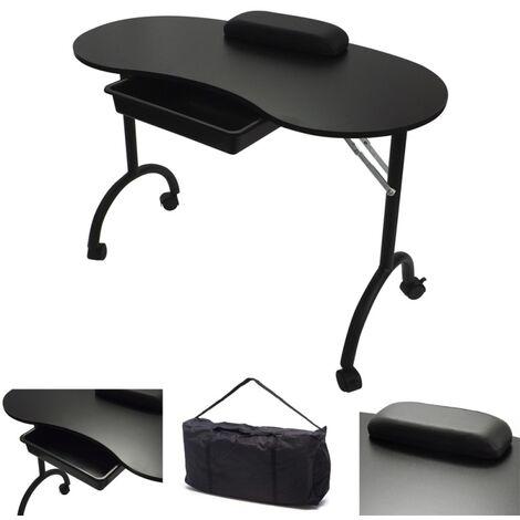 Manicure Beauty Nail Table - Black