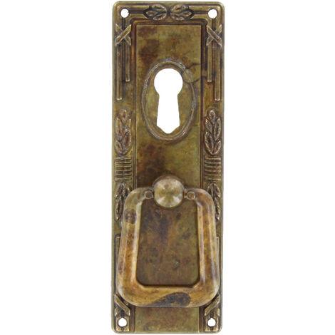 Maniglia Maniglietta per Mobili 110x45 mm Patinato Pulito Metal Style art.06323