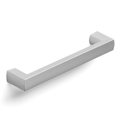 Maniglia Geometric per mobili camera colore effetto alluminio 124 x 14 mm