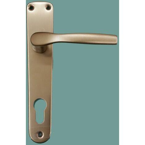 Maniglia in alluminio per porte interne, hoppe mod milano foro yale