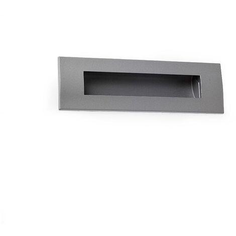 Maniglia in stile contemporaneo, Zama, Alluminio-Bianco, 128 mm interasse. Marchio REI