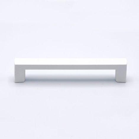 Maniglia Mobili Geometric Camera Bianco Laccato 124 x 14 mm