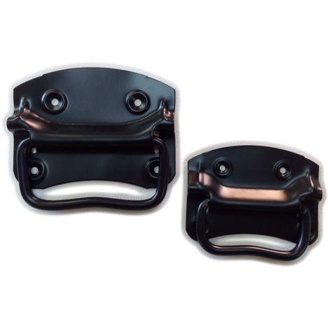 Maniglia nera in ferro per baule