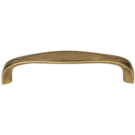 Maniglia per mobili in zama finitura bronzo interasse 128 mm 10 pezzi art. MG38987