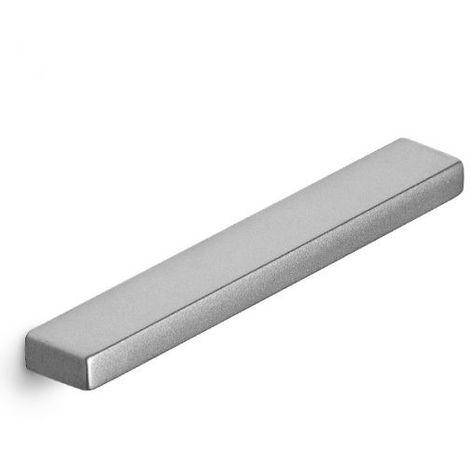 Maniglia Smooth da camera effetto alluminio 130 x 10 mm