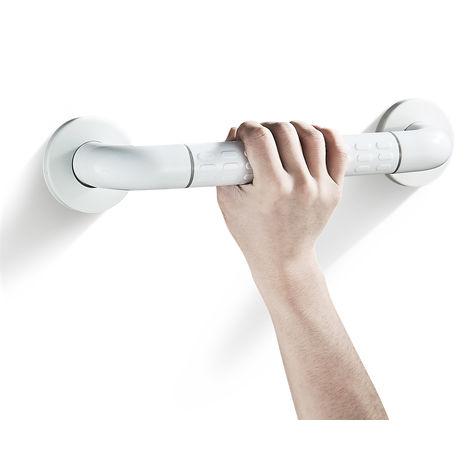 Maniglioni in Acciaio Inox Maniglia di Sicurezza Antiscivolo per Bagno Maniglione per Doccia da Parete Maniglioni da 35 cm per Vasca da Bagno WC (bianco)