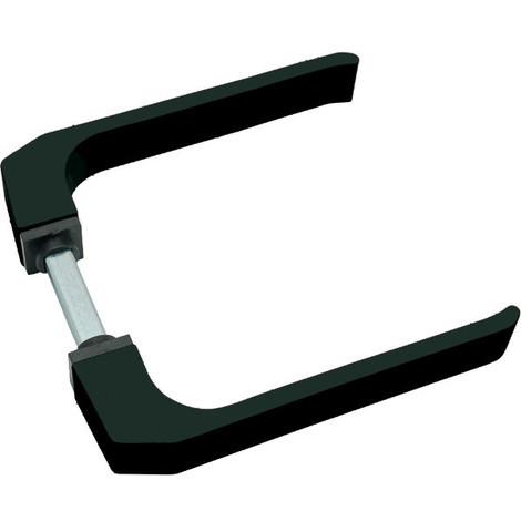 Manilla carpinteria aluminio 702 Negro Micel (juego completo)