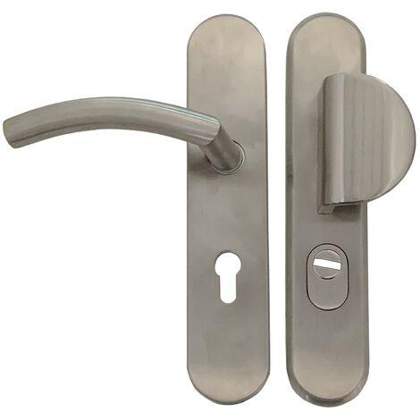 Manilla de puerta KLOSE besser con Placa de acero inoxidable 304 «Romy Onda»