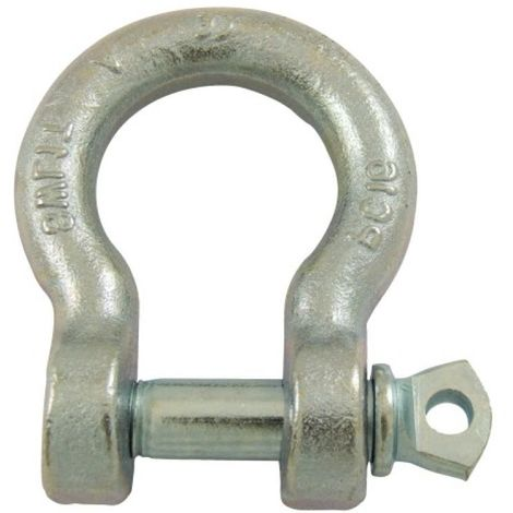 Manilles lyres à piton à oeil acier estampé zingué blanc diamètre axe 12 mm