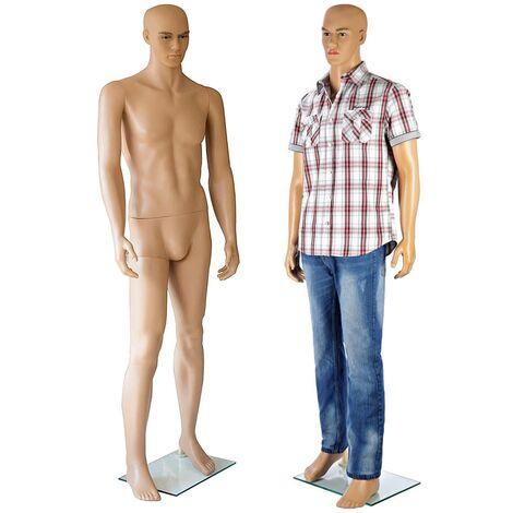 Maniquí de tienda maniquíes maniquís cuerpo Hombre 185CM ropa moda presentar exhibición muñeco marioneta confeccionar escaparate vitrina