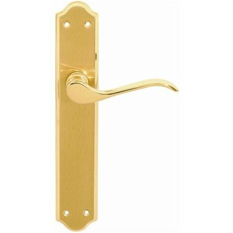 Manivela Puerta 247X124X52Mm 633 Laton Placa Larga